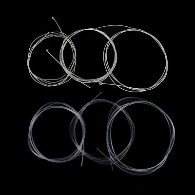 6 Pcs Guitar Strings Nylon Silver Plating Set Super Light for Acoustic Guitar LB