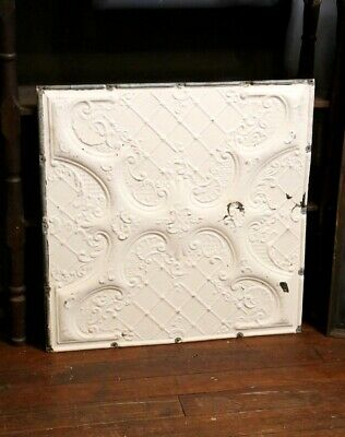 Vintage Tin Ceiling Tile Wall Collage White Vintage Kitchen Victorian embossed