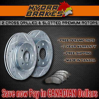 FITS 2007 2008 2009 2010 2011 BMW 323I Drill Slot Brake Rotors CERAMIC SLV F