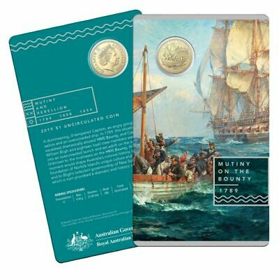 2019 $1 Mutiny and Rebellion the Bounty Uncirculated Coin
