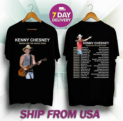 Provided New-kenny-chesney-tour-2019-black-color T-shirt S To 5xl Business & Industrial