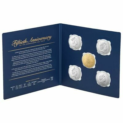 2019 50 Cents 50th Anniversary Uncirculated 5 Coin Set