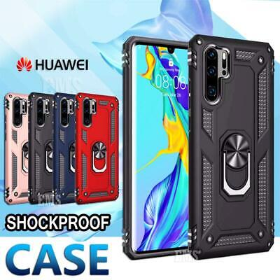 Huawei P30 P30 Lite P30 Pro Heavy Duty Case Rugged Rotating Magnetic Ring Cover