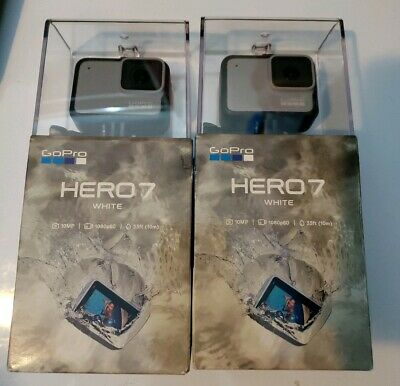 GoPro HERO7 White Waterproof Action Camera, Touch Screen, 1440p HD Video *NEW)