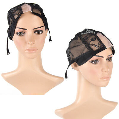 1pc Wig cap for making wigs with adjustable straps breathable mesh weaving_DM