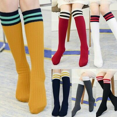 f3e97a18a Toddler Baby Kids Girls Knee High Cotton Socks Tights Leg Warmer Stockings  1-15Y