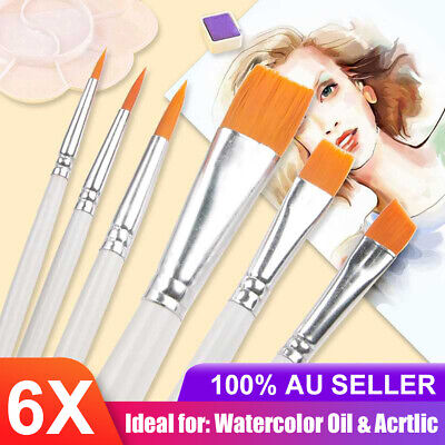 Artist Watercolour Acrylic Paint Brushes Set Kit Face Painting Craft Oil