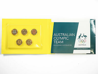 2016 Olympics Games 5x $2 Coloured Coin Carded Set OO-198