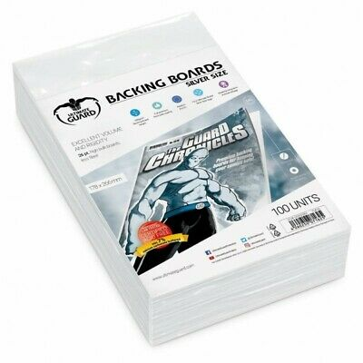 Ultimate Guard Comic Backing Boards Silver Size (100) (2184555)