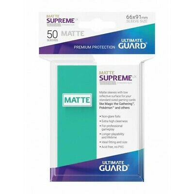 Ultimate Guard Supreme Ux Sleeves Standard Size Matte Turquoise (50) (2196712)