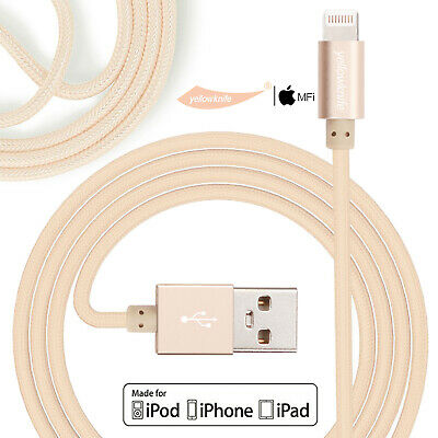 Heavy Duty Metal Alloy Zinc Braided USB Charger Cable For iPhone 6 6s 6splus 7 8