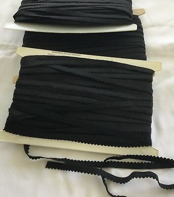 3 Cards lingerie Elastic Black 12mm app150 mts
