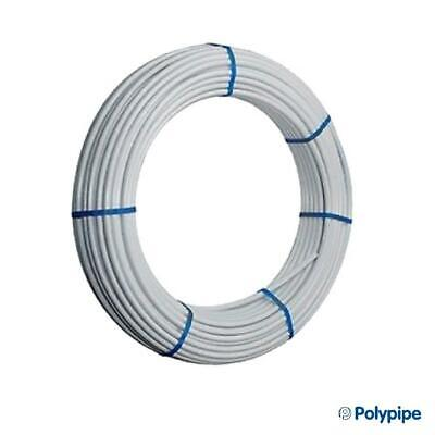 Polypipe 15mm x 25mm 10mm x 100m Plastic Plumbing Pipe Barrier Coil White