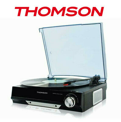 Thomson Record Player Turntable 3-Speed, USB Vinyl to MP3 Software Speaker NEW