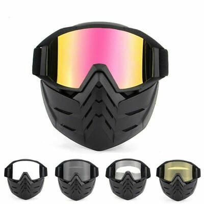 Winter Snow Face Shield Mask Goggles Ski Snowboard Detachable Eyewear UV Glasses