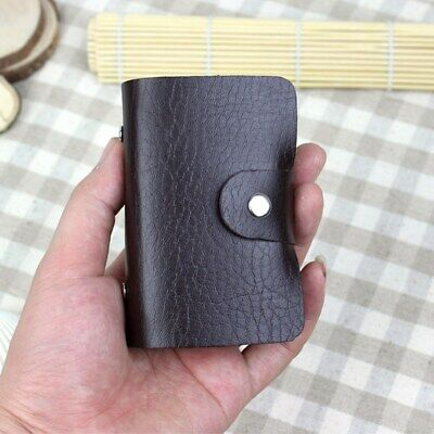 PU Leather Card Holder Wallet Pocket Credit ID Purse Money Cash Travel Mini Slim