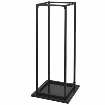 Firewood Rack Stand with Base Log Fireplace Stand Holder Storage Support Steel