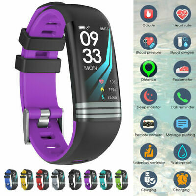 Fitness Tracker Smart Activity Watch Heart Rate Wrist Women Men For Android iOS