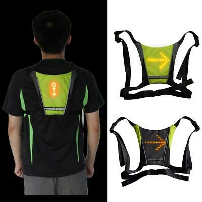 Wireless Remote Control Reflective Vest LED Steering Light For Cycling Hiking