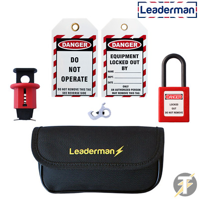 MCB RCD Lockout / Off Leaderman Kit for Consumer Unit Circuit Breaker - LDM-BCK