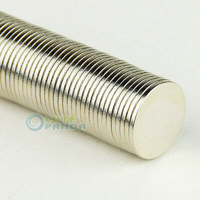 100 pcs Lots Super Strong Round Magnet Disc Slice 12 X 1 mm Rare Earth Neodymium