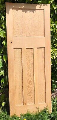 Reclaimed 1930s 1 over 3 panel stripped pine doors.(8 available)