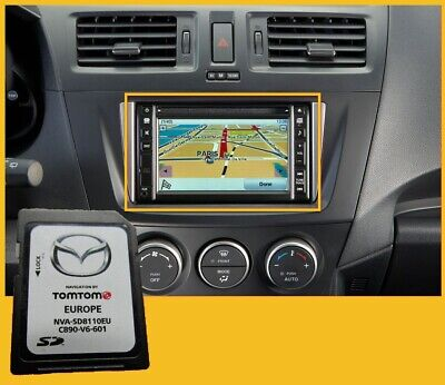 NVA-SD8110EU MAZDA 2,3,5,6,MX-5 TomTom SD KARTE CARD Navi Map EUROPE EUROPA
