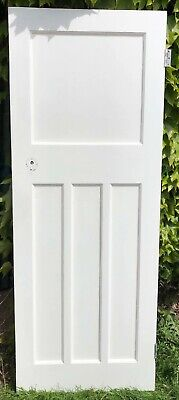 Reclaimed 1930s 1 over 3 panel Painted White  pine doors.(8 available)