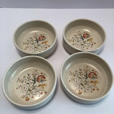 Lenox Temper-Ware Merriment (4) Fruit Dessert Bowl Set Made in USA