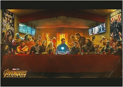 Marvel Avengers Last Supper Movie Large Poster Art Print A0 A1 A2 A3 A4 Maxi