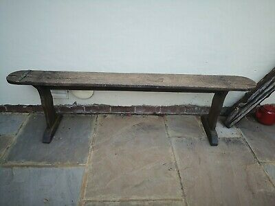 Antique solid oak bench, dining table, garden seating, farm house kitchen