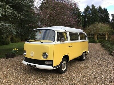 1972 VW T2 bay window banana yellow pop top
