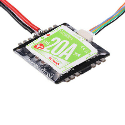 Racerstar RS20Ax4 V2 20A BB2 48MHz Blheli_S 2-4S 4 in 1 Opto Esc Support