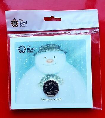The Snowman 50p BU Coin 2018 royal mint unopened presentation pack.