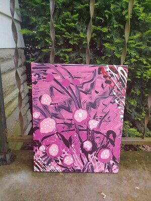 Abstract Painting - ( 16 inches x 20 inches ) Strawberry Fields