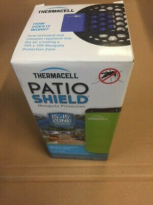 Thermacell Mini Patio Shield Green Vapor Insect Repeller MR-PSG (NEW)