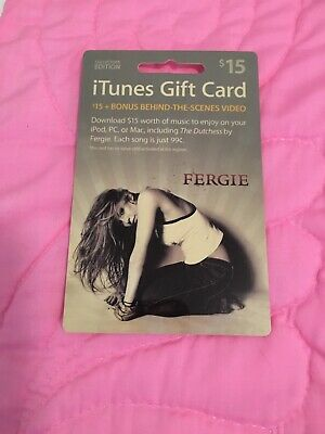 iTUNES GIFT CARD COLLECTORS EDITION FERGIE UNUSED $15.00