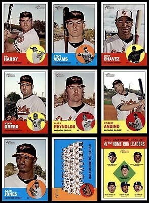 2012 Topps Heritage Baltimore Orioles Almost Complete Team Set  NM/MT