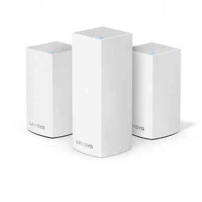 SEALED  Linksys Velop AC4600 Tri-Band Whole Home Mesh WiFi System - 3 Pack