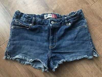 Girls Blue Denim Style Cherokee Adjustable Waist Short Shorts - Age 12-13 Years
