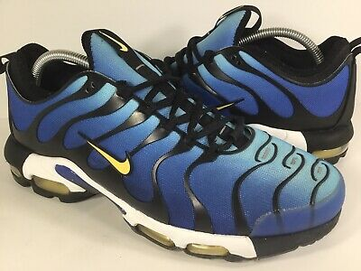 new styles 6b17d c8b70 Nike Air Max Plus Tn Ultra Hyper Blue White Yellow Black Mens Size 9.5 Rare