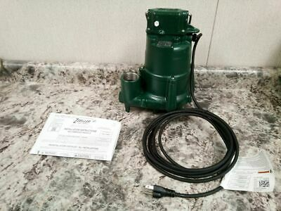 Zoeller N98 1/2 HP 1550 RPM 120VAC 23 Ft Max Head Submersible Sump Pump