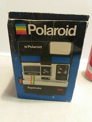 Polaroid Supercolor 635 Instant Film Camera & box