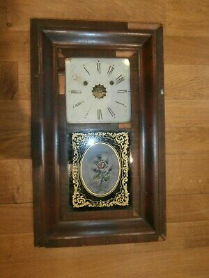 """Antique collectable19th Century """"Jerome & Co"""" 30 hour clock for restoration"""