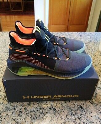 2b40d9196f3 Under Armour Curry 6 Fox Theater Black Orange Size 12 NEW 3020612-004  Authentic