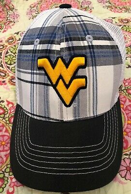 hot sale online fd18b 6d74c West Virginia Mountaineers NCAA Stretch Fit Hat Cap University WVU WV One  Size