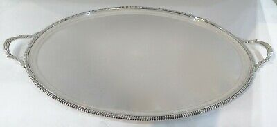 """Oval Georgian Style Sterling Silver Tray. 3761 Grams. 28.75"""" x 18.50"""""""