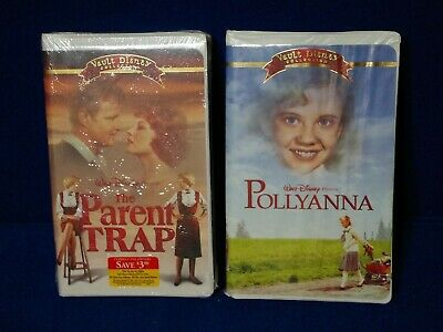 Walt Disney Vault Collection The Parent Trap & Pollyanna VHS Tapes 1 New /1 Used