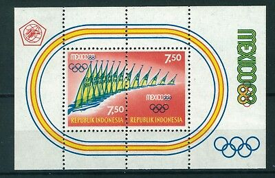 Indonesia 1968 Olympic Games Mexico. Mini Sheet. mint.