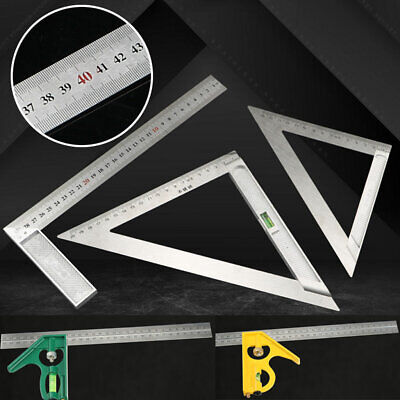 Adjustable Tri Square Right Angle Ruler 100-300mm Combination Level Protractor